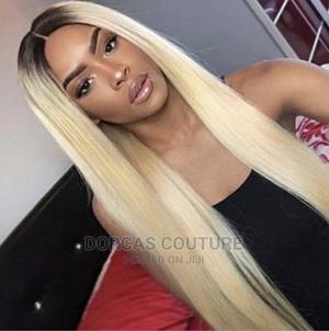 Fashion Wig With Closure 22 Inches Black and Sliver   Hair Beauty for sale in Oyo State, Ibadan