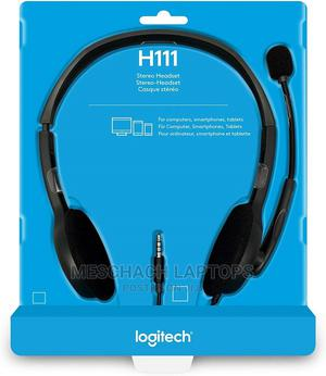 Logitech Stereo Headset H111 | Headphones for sale in Lagos State, Ikeja