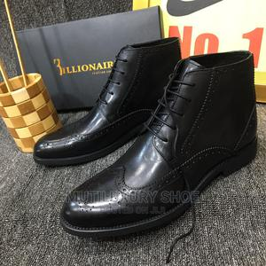 Billionaire Ankle Boots Brogues Shoe Black Brown | Shoes for sale in Lagos State, Lagos Island (Eko)