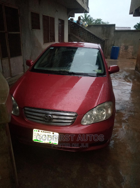 Toyota Corolla 2003 Sedan Automatic Red   Cars for sale in Ibadan, Oyo State, Nigeria