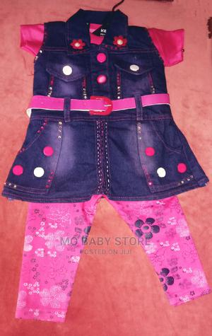 Baby Girl Denim Jacket With Pant | Children's Clothing for sale in Lagos State, Alimosho