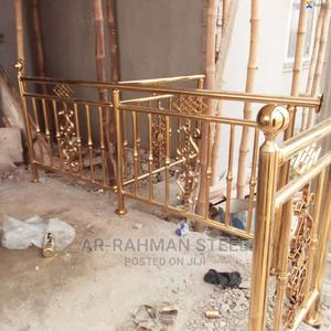 Gold Stainless Steel Handrails | Building & Trades Services for sale in Lagos State, Orile