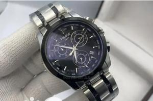Tissot 1853 Men's Silver and Black Chain Watch   Watches for sale in Abuja (FCT) State, Lugbe District