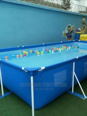 12 Ft Rectangular Intex Manual Swimming Pool   Toys for sale in Lagos State, Ipaja