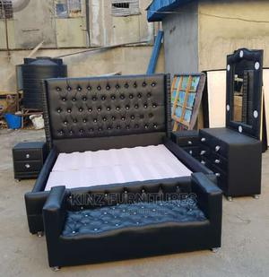 (6/6) Upholstery Bedframe Completely Set | Furniture for sale in Lagos State, Ojo