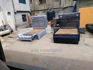 (6/4.5) Upholstery Bedframe With Lights | Furniture for sale in Lagos State, Ojo