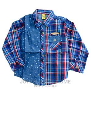 Boys Long Sleeve Shirt .Blue and Multi | Children's Clothing for sale in Lagos State, Ojota