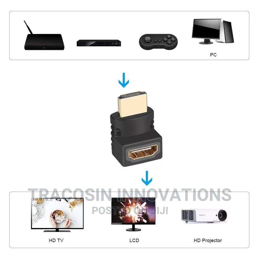 90 Degree Angle HDMI Connector HDMI Male to Female Adapter | Accessories & Supplies for Electronics for sale in Yaba, Lagos State, Nigeria