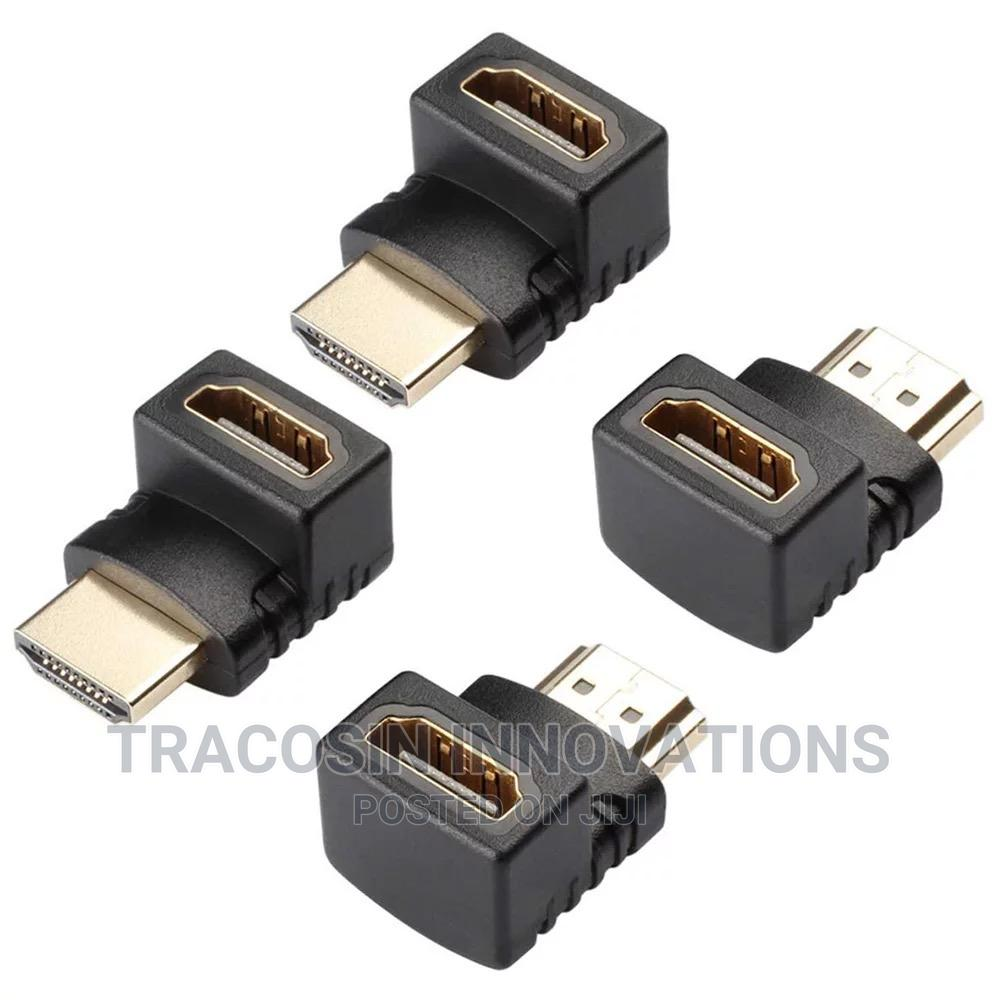 90 Degree Angle HDMI Connector HDMI Male to Female Adapter