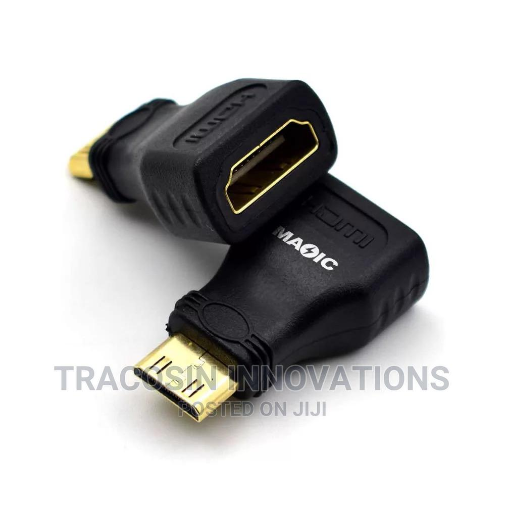 Mini HDMI Male to HDMI Female Connector Adapter | Accessories & Supplies for Electronics for sale in Yaba, Lagos State, Nigeria