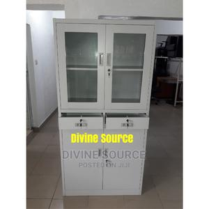 Quality Office Half Glass Half Metal With Drawer | Furniture for sale in Lagos State, Lekki