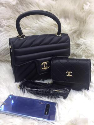 Chanel Handbags With Purse. Quality Black Chanel Hand Bag | Bags for sale in Lagos State, Apapa
