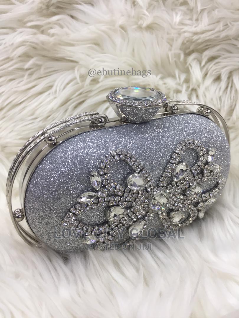 Silver Clutch Purse. Designer Quality Women's Clutch Purse