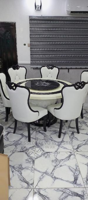 Marble Round Table by 6 | Furniture for sale in Abuja (FCT) State, Mararaba