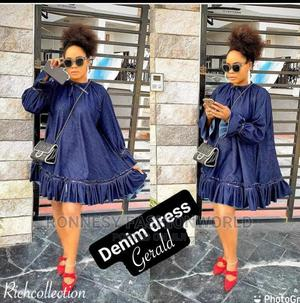 Elegant Classic Trendy Female Quality Denim Jeans Gown | Clothing for sale in Lagos State, Ikeja