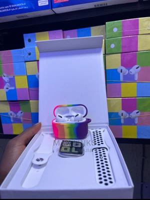 T55 Smartwatch With Free Airpod and Pouch   Smart Watches & Trackers for sale in Lagos State, Ikeja