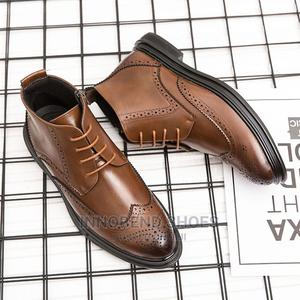 Men Design Ankle Boots-Brown   Shoes for sale in Lagos State, Alimosho