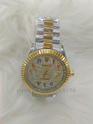 Silver and Gold Multi Colour Arabic Rolex Watch | Watches for sale in Lagos State, Surulere