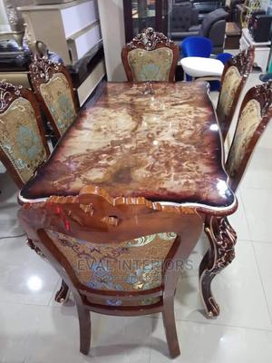 High Quality Royal Wooden Dining Table With 6 Chairs   Furniture for sale in Lagos State, Lekki