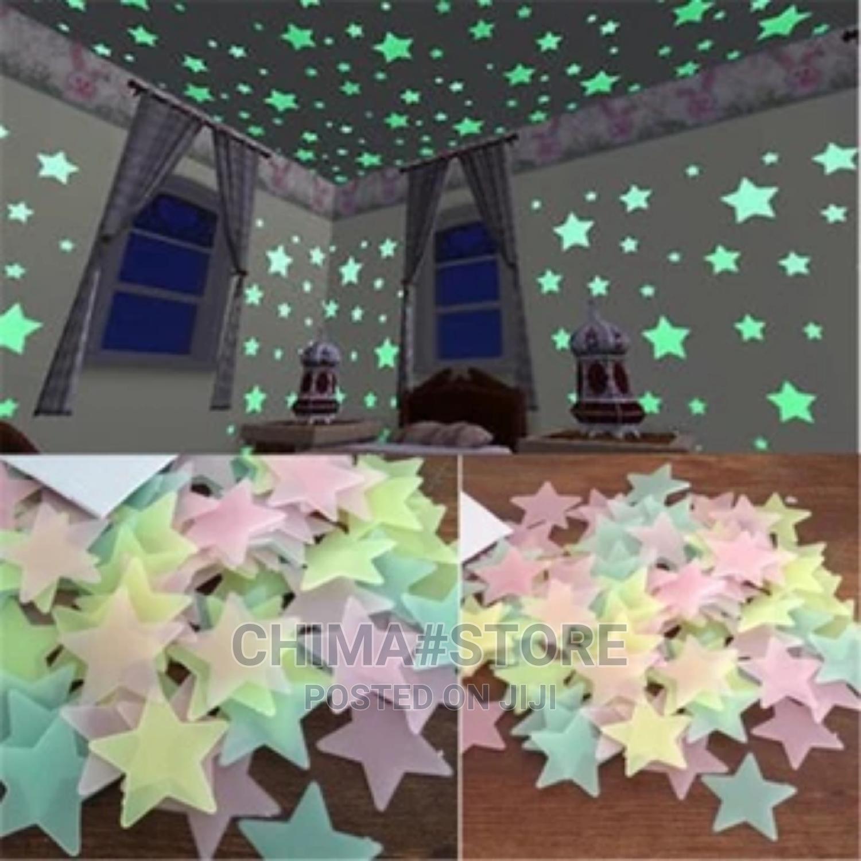 50pcs 3D Stars Glow in the Dark Wall Stickers