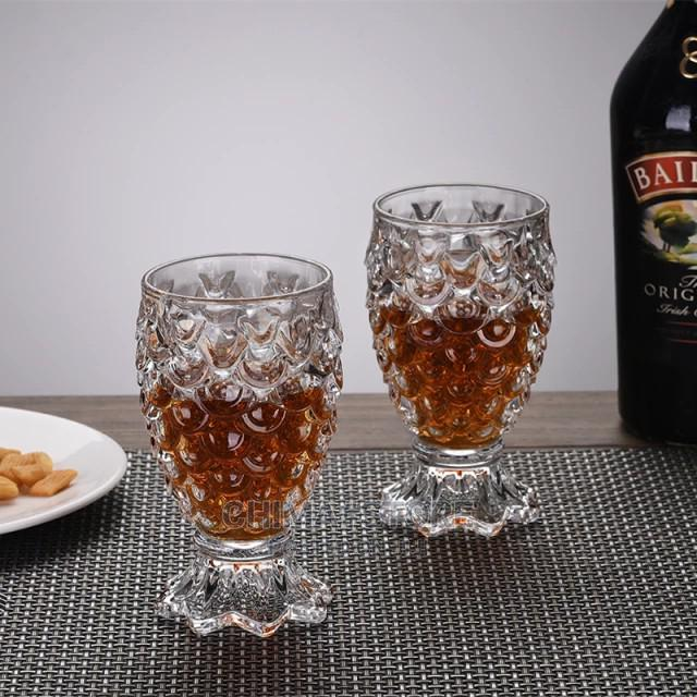 6 Pcs Set 230ml Fish Scale Cup Red Wine Glass Cup Fruit