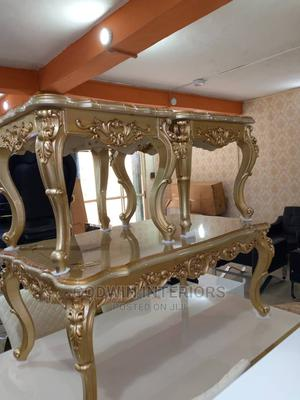 Gold Colour Center Table With Side Stools   Furniture for sale in Lagos State, Ojo