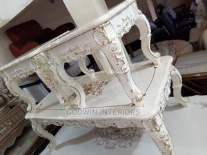 White Colour Center Table and Side Stool | Furniture for sale in Lagos State, Ojo