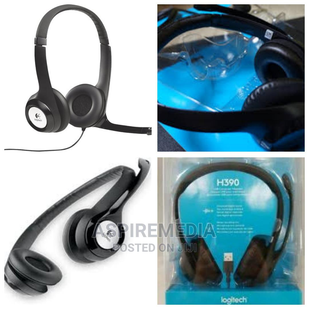 Logitech - H390 USB Headset With Noise-canceling Microphone