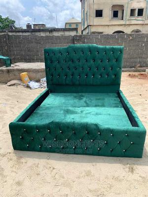 6by6 Upholstery Bedframe | Furniture for sale in Lagos State, Maryland