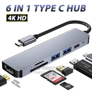 USB Hub 6 in 1 Type C to 4K Hdmi-Compatible USB 3.0 TF SD PD | Accessories & Supplies for Electronics for sale in Lagos State, Yaba
