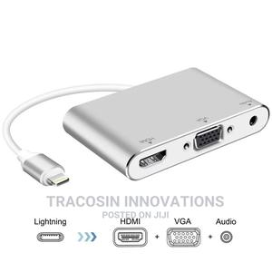 Lightning to HDMI VGA Audio Adapter Converter for iPhone | Accessories & Supplies for Electronics for sale in Lagos State, Yaba