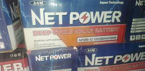 AGM Net Power 12v 200ah Deep Cycle Battery.   Solar Energy for sale in Lagos State, Ojo