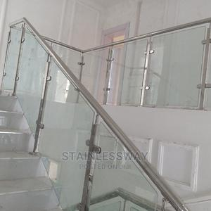 Glass Work Stainless Handrail With Square Pipe   Building Materials for sale in Abuja (FCT) State, Central Business District