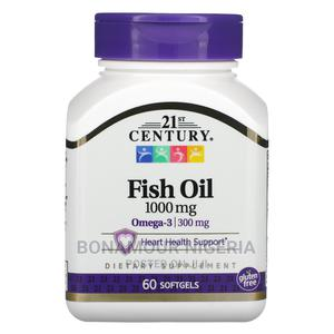 Fish Oil 1000mg Omega-3 300mg | Vitamins & Supplements for sale in Lagos State, Ipaja