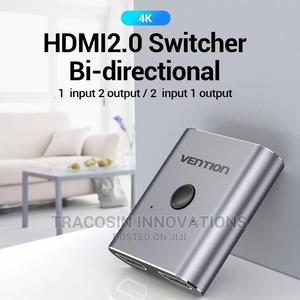 4K HDMI Switch 2 Ports Bi-Directional 1x2 / 2x1 Switch/Split | Accessories & Supplies for Electronics for sale in Lagos State, Yaba