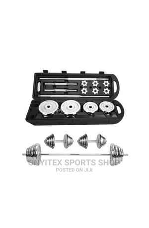 Brand New 50kg Dumbbell With Case | Sports Equipment for sale in Lagos State, Lekki