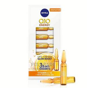 NIVEAQ10 Energy Glow Boosting Faceampoules Serum +Vitamin C | Skin Care for sale in Lagos State, Abule Egba