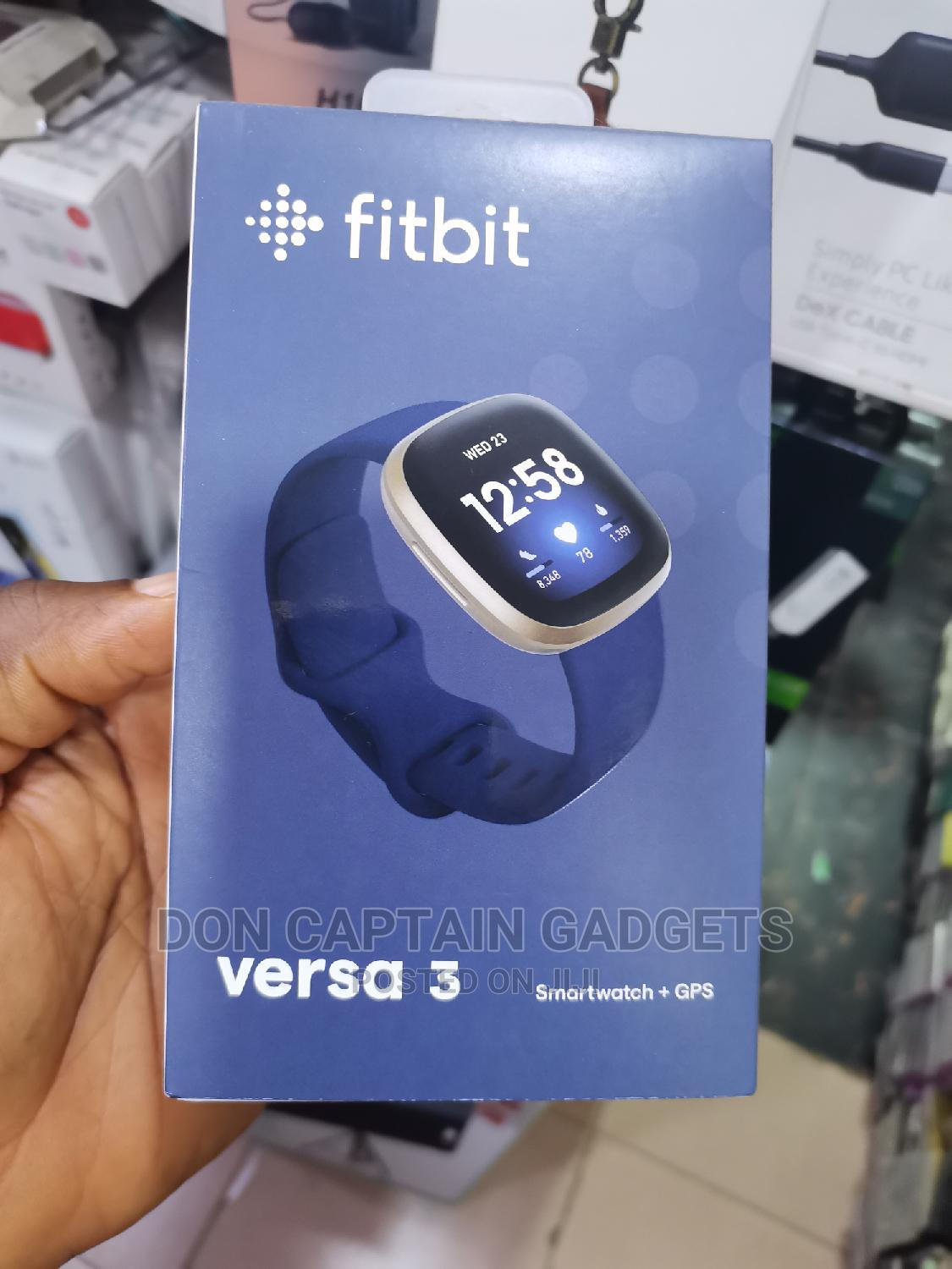 Fitbit Versa 3 Gps+Smart Watch | Smart Watches & Trackers for sale in Ikeja, Lagos State, Nigeria