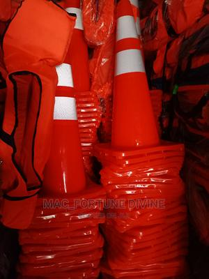 PVC Original Safety Cone 70cm   Safetywear & Equipment for sale in Lagos State, Surulere