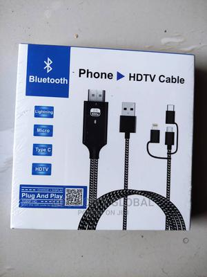 Bluetooth Phone HDTV, Lightning,Micro,Type C Adapter Cable | Accessories & Supplies for Electronics for sale in Lagos State, Isolo