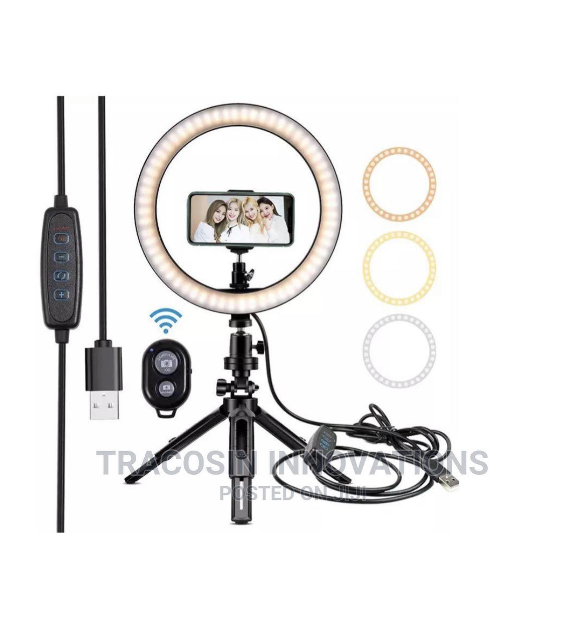 "10"" Tripod Table Makeup Video Handheld Selfie BT Ring Light"