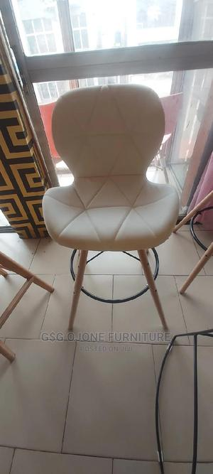 Imported Leather Bar Stool White   Furniture for sale in Lagos State, Ibeju
