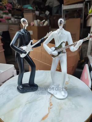 Guitar Man Figurine . Matl: Ceramic . Colours White, Black | Home Accessories for sale in Lagos State, Ipaja
