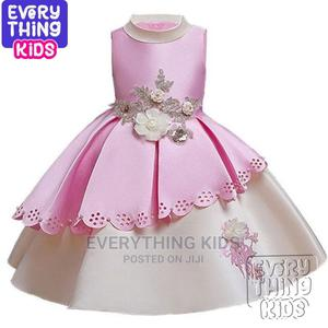 Girls Elegant Mid Length Dress - Baby Pink | Children's Clothing for sale in Lagos State, Ikoyi
