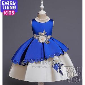 Girl's Elegant Mid Length Dress- Royal Blue | Children's Clothing for sale in Lagos State, Ikoyi