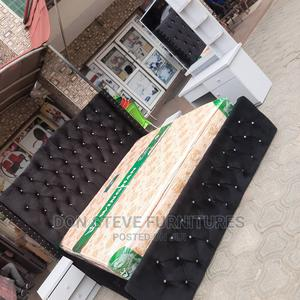 6/6 Upholstery Bed Frame With Imported Orthopedic Mattress   Furniture for sale in Lagos State, Ojo