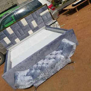 6by6 Padded Design Bed Frame With Automan   Furniture for sale in Lagos State, Ojo