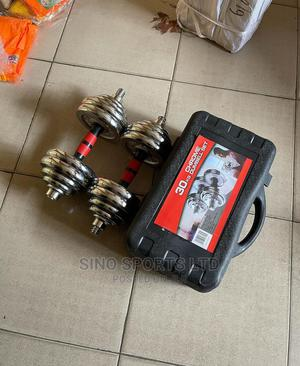 30kg Adjustable Dumbbell   Sports Equipment for sale in Lagos State, Lekki