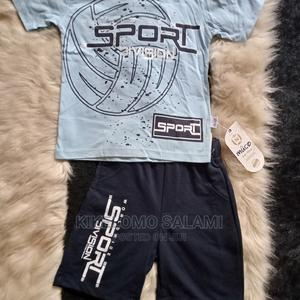 Boy's 2pcs Short Sleeve T-Shirt and Shorts | Children's Clothing for sale in Lagos State, Alimosho