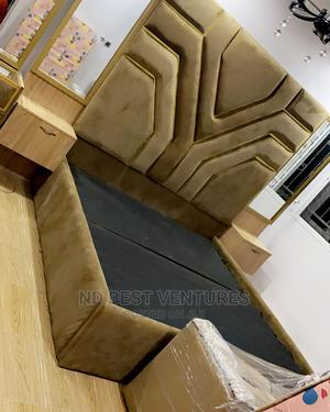 Classic Modern Padded Bed Frame | Furniture for sale in Lagos State, Lekki